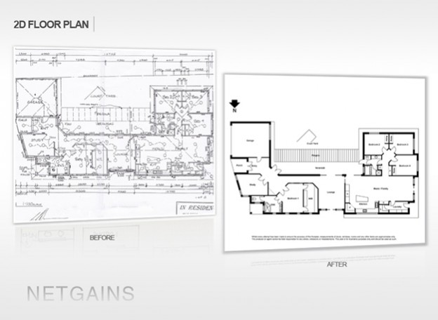 2d Floor Plan Drafting Paper To Cad Netgains