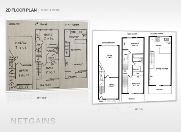 2d floor plan drafting design services netgains for Floor plan drafting services