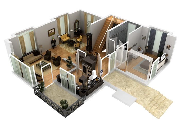 2d 3d house floorplans architectural home plans netgains 3d house builder online