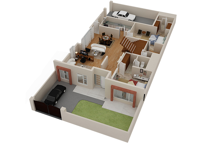 2d 3d house floorplans architectural home plans netgains Three d house plans