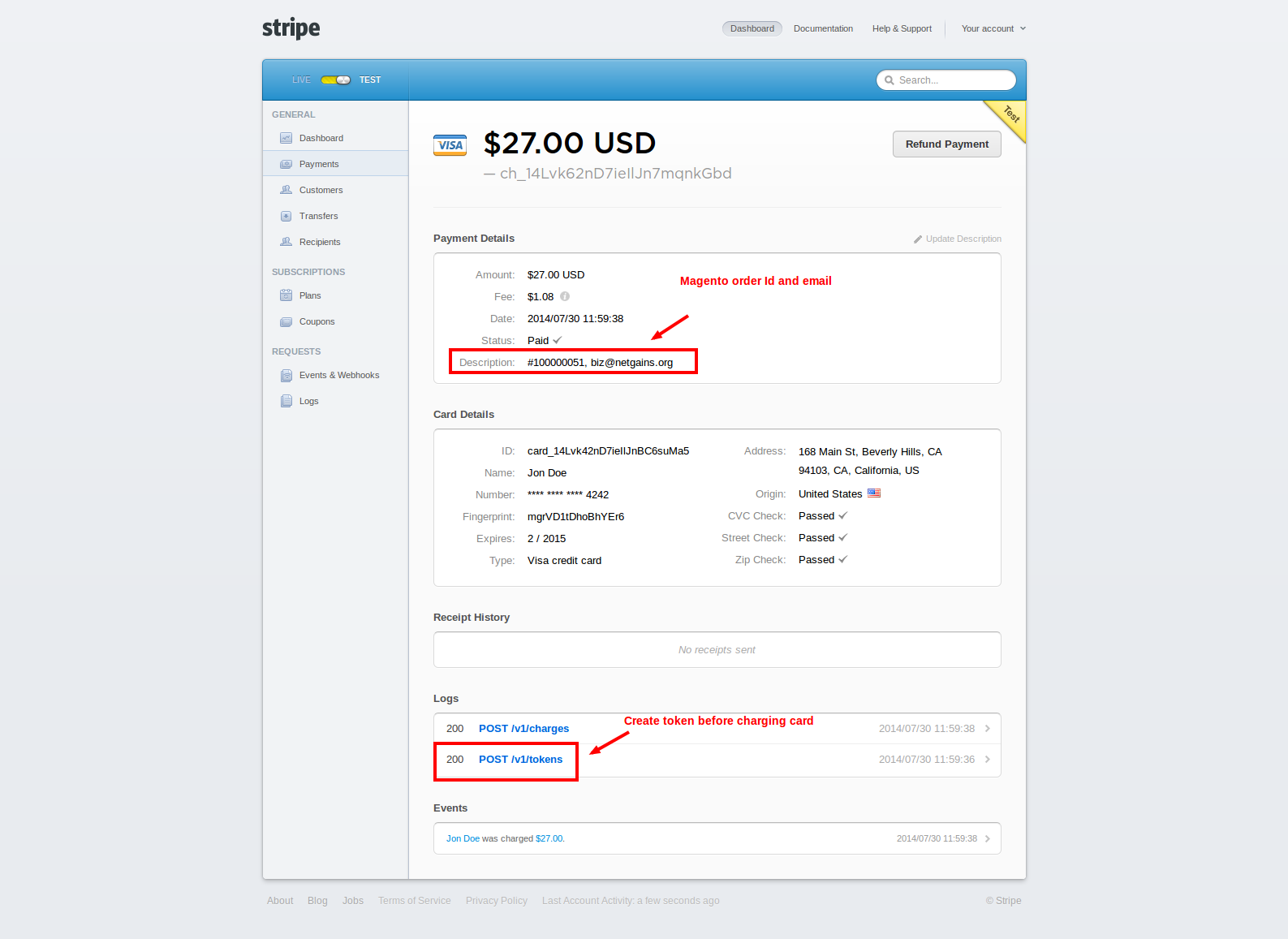 Pay using Stripe – Magento Extension