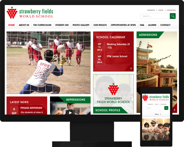 Netgains launched a new website For Strawberry fields