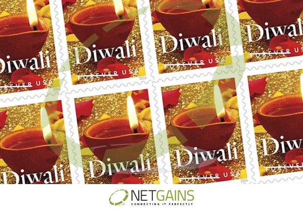 Postal Stamp for Diwali