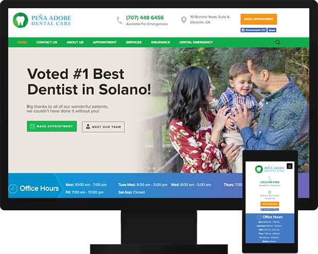 Dental Health Care Medical Website Design Development
