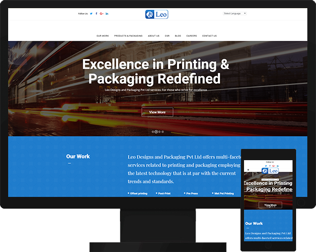 Design and Packaging Website Development